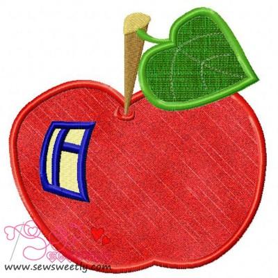 Apple House Applique Design