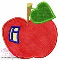 Apple House Applique Design