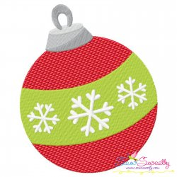 Christmas Ball Ornament Embroidery Design