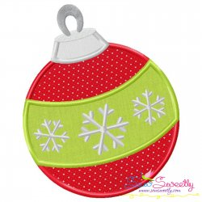 Christmas Ball Ornament Applique Design