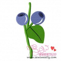 Blueberry Embroidery Design