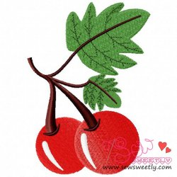 Cherry Embroidery Design