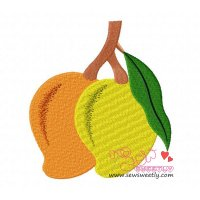 Mangoes Embroidery Design