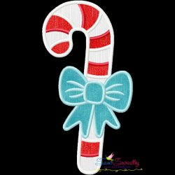 Candy Cane Bow Applique Design