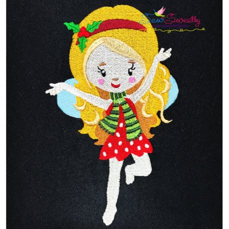 Christmas Fairy-4 Embroidery Design Pattern- Category- Christmas Designs- 1
