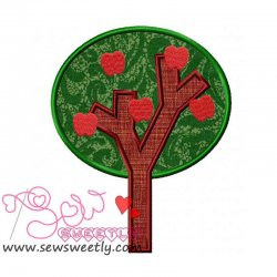 Apple Tree-2 Applique Design