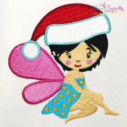 Christmas Fairy-2 Embroidery Design