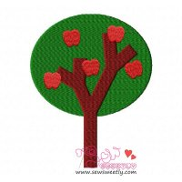 Apple Tree-2 Embroidery Design