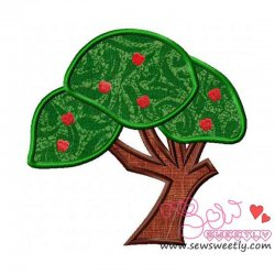 Apple Tree-1 Applique Design