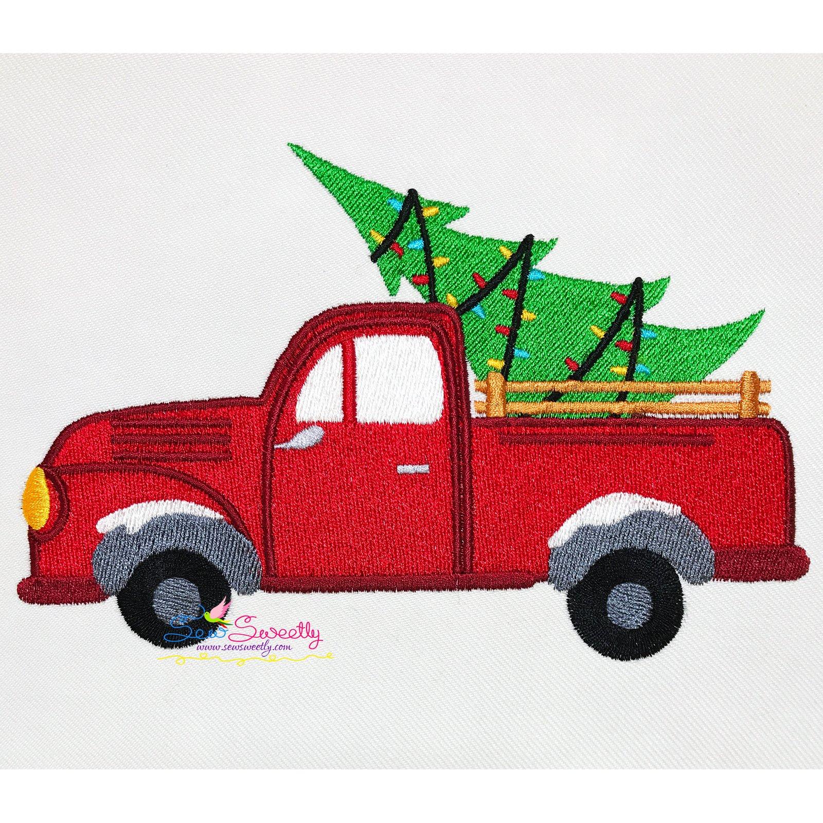 Christmas Embroidery Design Christmas Tree Truck