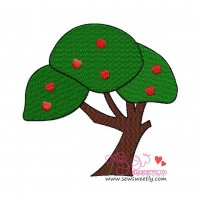 Apple Tree-1 Embroidery Design