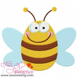 Bee-1 Embroidery Design