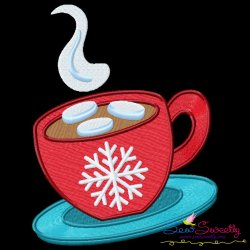 Christmas Coffee Cup Embroidery Design