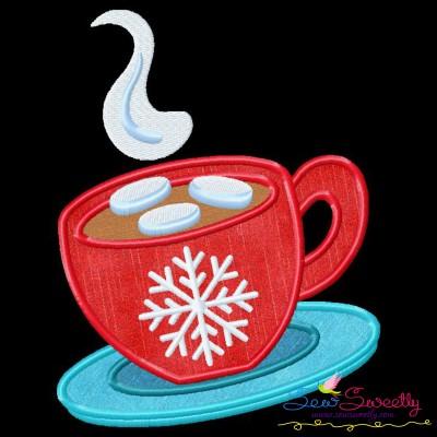 Christmas Coffee Cup Applique Design
