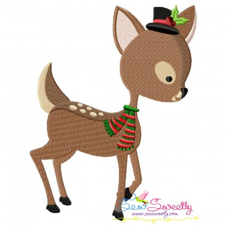 Woodland Deer Embroidery Design Pattern- Category- Christmas Designs- 1
