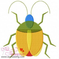 Colorful Insect Embroidery Design