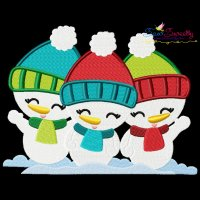 Christmas Snowman Kids Embroidery Design