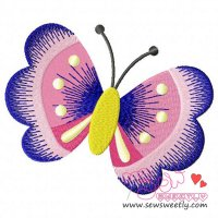 Butterfly-2 Embroidery Design