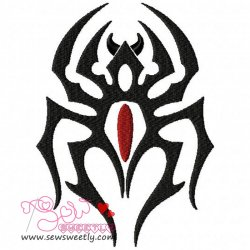 Black Widow Embroidery Design