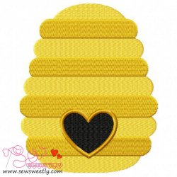 Bee Hive Embroidery Design