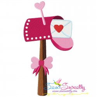Valentine's Letterbox Embroidery Design