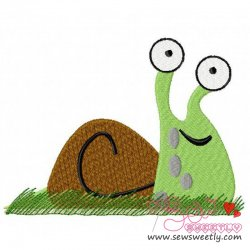 Snail Embroidery Design