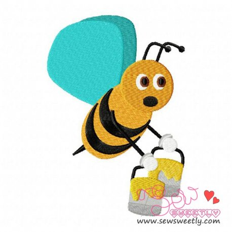 Bee Carrying Honey-1 Embroidery Design