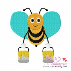 Bee Carrying Honey-2 Embroidery Design