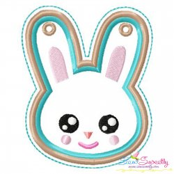 Easter Bunny Face Ornament ITH Embroidery Design