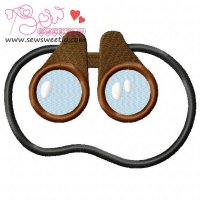 Binocular-1 Embroidery Design