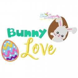 Bunny Love-2 Easter Lettering Embroidery Design