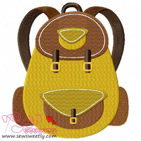 Camping Backpack Embroidery Design