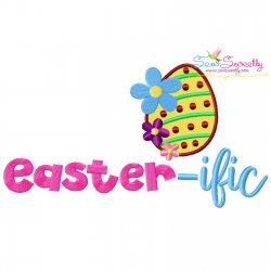 Easter-ific Lettering Embroidery Design
