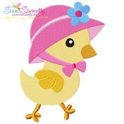 Easter Chick Bonnet Embroidery Design