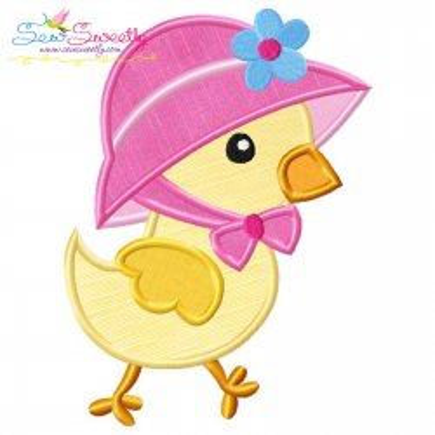 Easter Chick Bonnet Applique Design