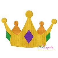 Golden Crown Embroidery Design