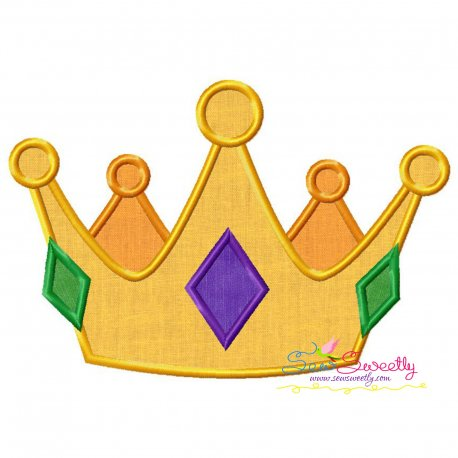 Golden Crown Applique Design Pattern- Category- Fantasy And Fairy Tales- 1
