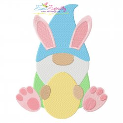 Easter Gnome Embroidery Design