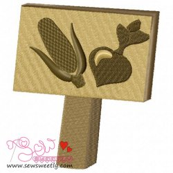 Garden Sign-Crop Embroidery Design