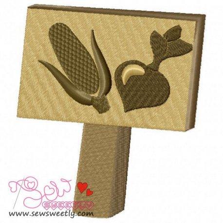 Garden Sign-Crop Embroidery Design