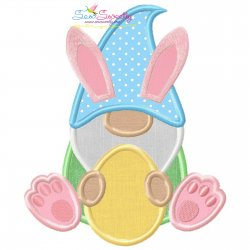 Easter Gnome Applique Design
