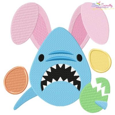 Easter Shark Embroidery Design