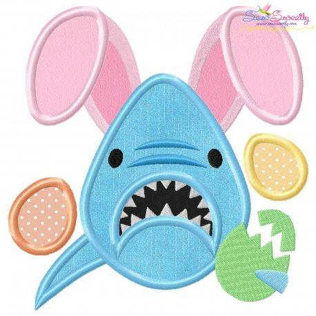 Easter Shark Applique Design