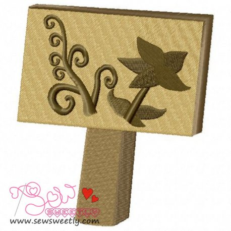 Garden Sign-Herb Embroidery Design