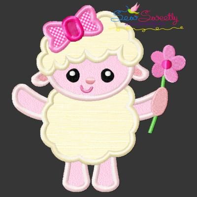 Easter Lamb Applique Design