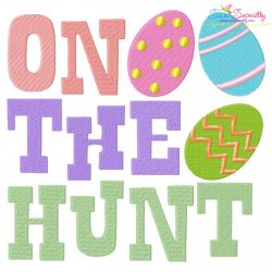 On The Hunt Easter Eggs Embroidery Design