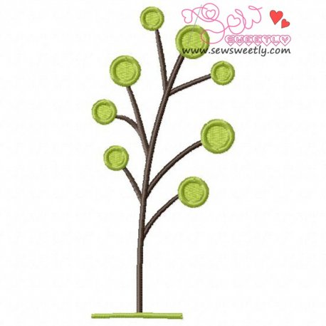 Retro Tree-6 Embroidery Design