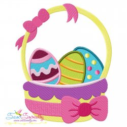 Easter Eggs Basket-2 Embroidery Design