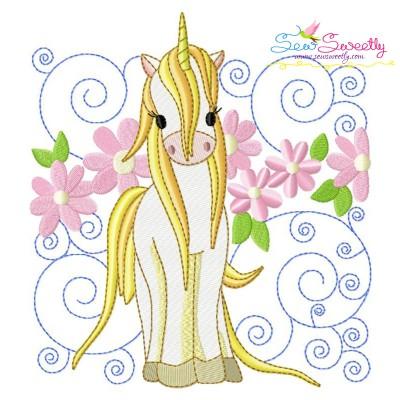 Golden Unicorn Block-1 Embroidery Design