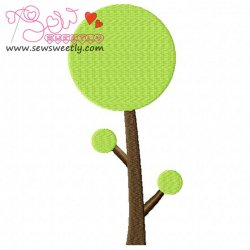 Retro Tree-2 Embroidery Design
